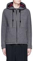 Lanvin Wool-blend hooded herringbone jacket
