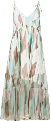 Jil Sander Geometric Print Midi Dress