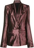 Haider Ackermann Metallic Pinstriped Blazer - women - Silk/Cotton/Nylon/Wool - 36