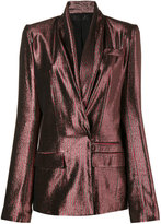 Haider Ackermann Metallic Pinstriped Blazer - women - Silk/Cotton/Nylon/Wool - 38