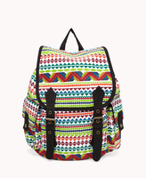 Forever 21 Geo Canvas Backpack