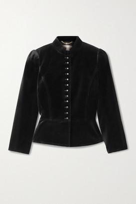 Tory Burch Cotton-blend Velvet Jacket - Black