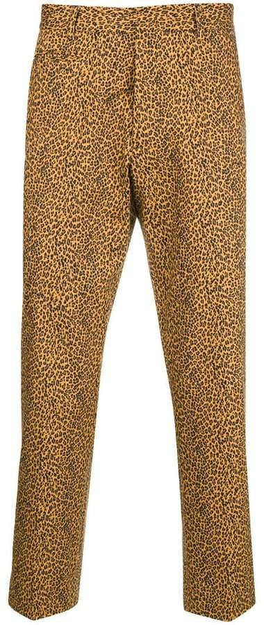 R 13 leopard printed cropped trousers