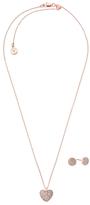Michael Kors Rose Gold Coloured Necklace Set