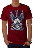 Lucky Thirteen Skull Dark Horror Men NEW XXXL T-shirt | Wellcoda