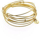 Yellow Gold Expandable Wire Bangles