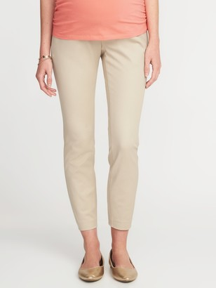 Old Navy Maternity Full-Panel Pixie Ankle Pants