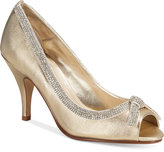 Caparros Glow Peep-Toe Evening Pumps Women's Shoes