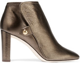 Jimmy Choo Medal Metallic Textured-leather Ankle Boots - Bronze