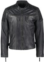 Gipsy Chester Leather Jacket Grey