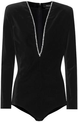 Isabel Marant Qabea embellished bodysuit