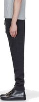 Lanvin Dark Grey Knit Merino Wool Lounge Pants