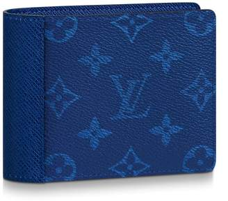 Louis Vuitton Multiple Wallet Monogram Pacific Taiga Blue