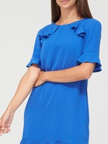 Very Ruffle Detail Tunic Dress - Cobalt