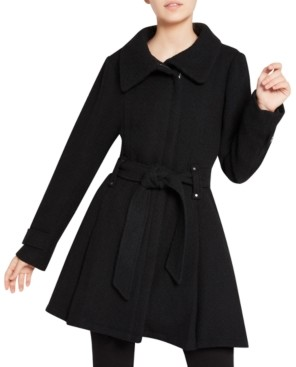 Madden-Girl Juniors' Asymmetrical Belted Wrap Coat, Created for Macy's