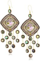 Miguel Ases Abalone Multi-Drop Earrings
