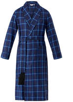 Derek Rose York 33 Check Wool Dressing Gown
