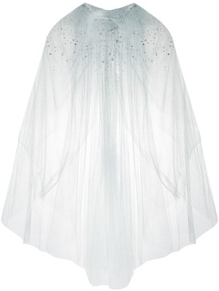 Jenny Packham Brooke sheer embellished tulle cape