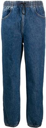 Alexander Wang Logo Stripe Baggy Jeans