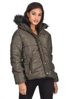 AX Paris Khaki Quilted Jacket
