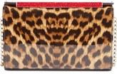 Christian Louboutin 'Vanité' Leopard Print Leather Clutch