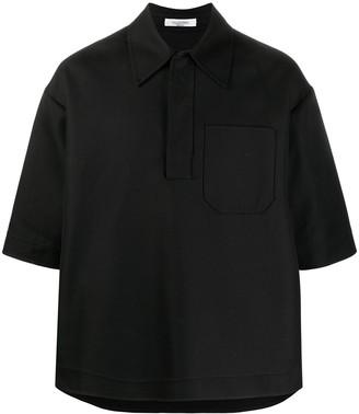 Valentino Double-Faced Cotton Polo Shirt