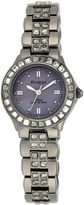 JCPenney Armitron Now Womens Gray Crystal Watch