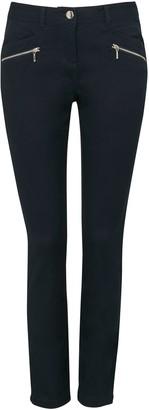 Wallis PETITE Navy Zip Detail Trouser
