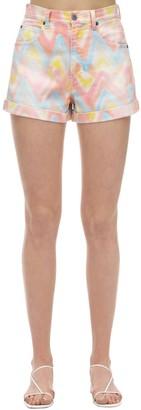 M Missoni Printed Cotton Denim Shorts
