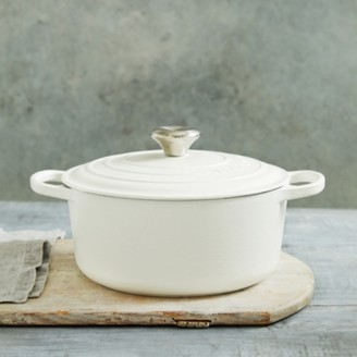 The White Company Le Creuset Round Casserole Dish - 24cm, White, One Size