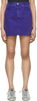 Rag & Bone Blue Denim Moss Skirt