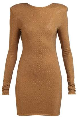 Alexandre Vauthier Microcrystal Open Back Mini Dress - Womens - Brown