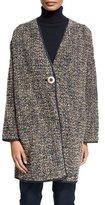 Lafayette 148 New York Katya Reversible Cocoon Coat, Femme Pink Multi