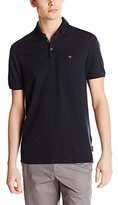 Ted Baker Men's Regstep-Ombre Stitch Polo-Modern Slim Fit