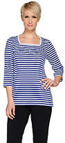 Quacker Factory Nautical Stars & Stripes SquareNeck T-shirt