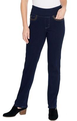 Belle By Kim Gravel Regular Flexibelle Straight Jeans