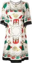 Dolce & Gabbana drum print dress - women - Silk - 38