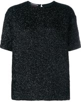 Rochas textured short sleeve top