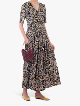 Jolie Moi Half Sleeve Wrap Front Maxi Dress, Multi