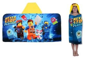 Lego Movie 2 Kids Bath and Beach Hooded Towel Wrap, 100% Cotton