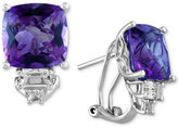 Effy Viola by Amethyst (7-5/8 ct. t.w.) and White Topaz (1-1/3 ct. t.w.) Earrings in 14k White Gold