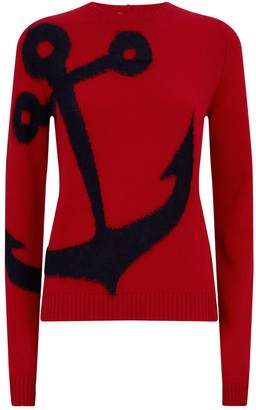 N°21 Mohair-Blend Anchor Sweater