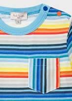 Paul Smith Baby Boys' Multi-Colour Stripe Pocket T-Shirt
