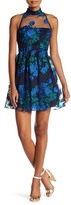 Speechless Embroidered Illusion Party Dress (Juniors)