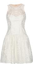 Marchesa Embroidered organza mini dress