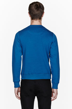 Kenzo Blue Logo-embroidered sweatshirt
