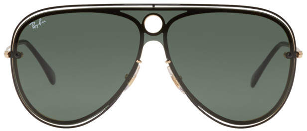 Ray-Ban Black and Gold Pilot Aviator Sunglasses