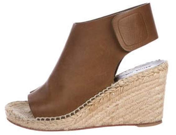 6a756c351b7 Leather Espadrille Wedges Brown Leather Espadrille Wedges