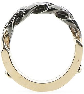 Alexander McQueen Logo Engraved Chain Ring