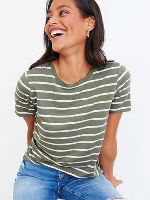 Old Navy Luxe Striped Crew-Neck Tee for Women